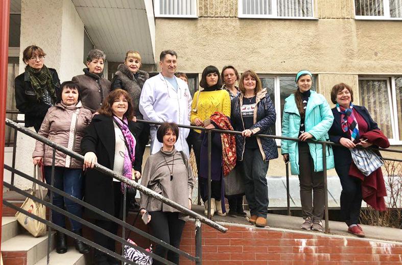 Під час відвідин центральної міської лікарні: у центрі – головний лікар Тарас Масляк