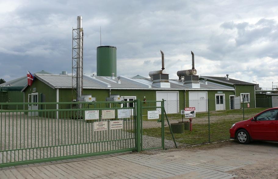 Біогазовий завод на півночі Польщі
