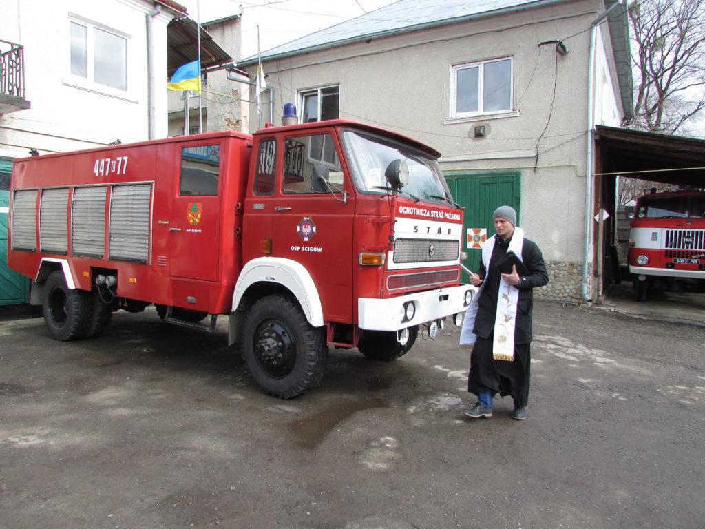 Поляки подарували рятувальникам Рогатинщини пожежний автомобіль (фотофакт)