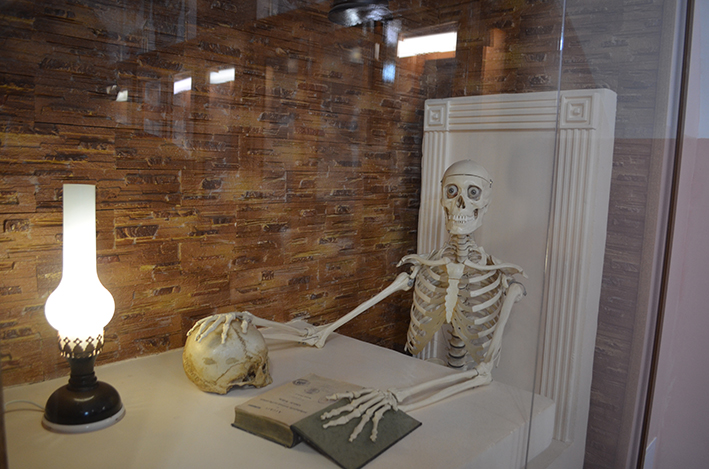 """""""Розумний"""" скелет, що живе в одній із аудиторій"""