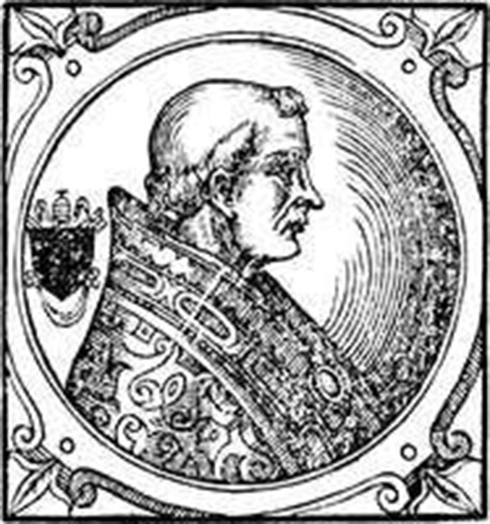 Папа Римський Григорий VII. Гравюра 1600 pоку