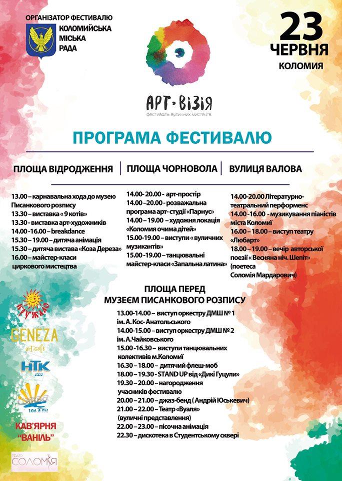Коломиян та гостей міста запрошують на фестиваль «Арт Візія»