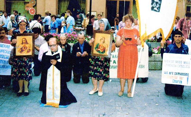 Голодування віруючих УГКЦ в Москві. Травень, 1989 р.