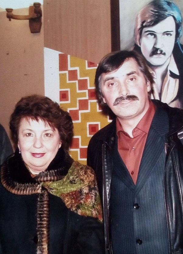 Михайло Кривень із сестрою Володимира Івасюка пані Галиною