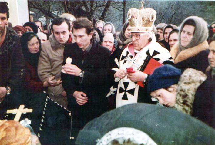 Владика Василик відправляє похорон підпільного церковного діяча владики Тимчука в Заліщиках, 1917 р.