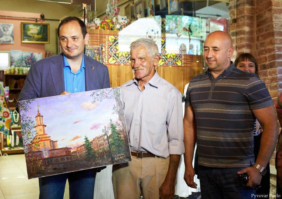 Подарунок меру Івано-Франківська від митця