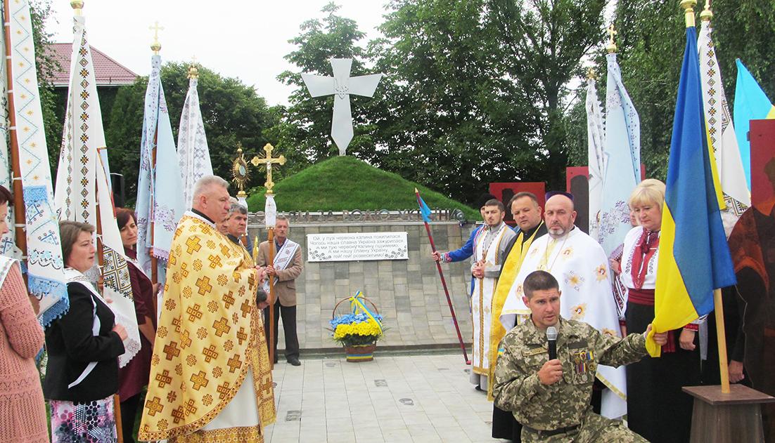 Під час відкриття меморіального комплексу «Борцям за волю України» у селищі Брошневі-Осаді