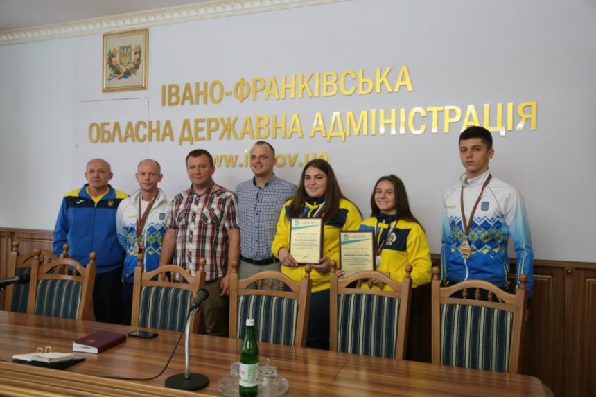 В Івано-Франківську відзначили спортсменів, які перемогли на міжнародних змаганнях