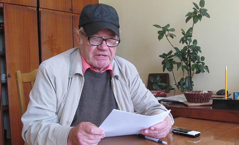 Дмитро Юсип в редакції газети «Галичина».
