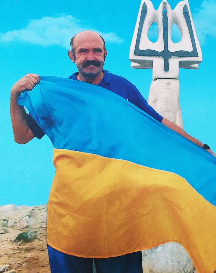 Любомир Михайлів на горі Говерлі