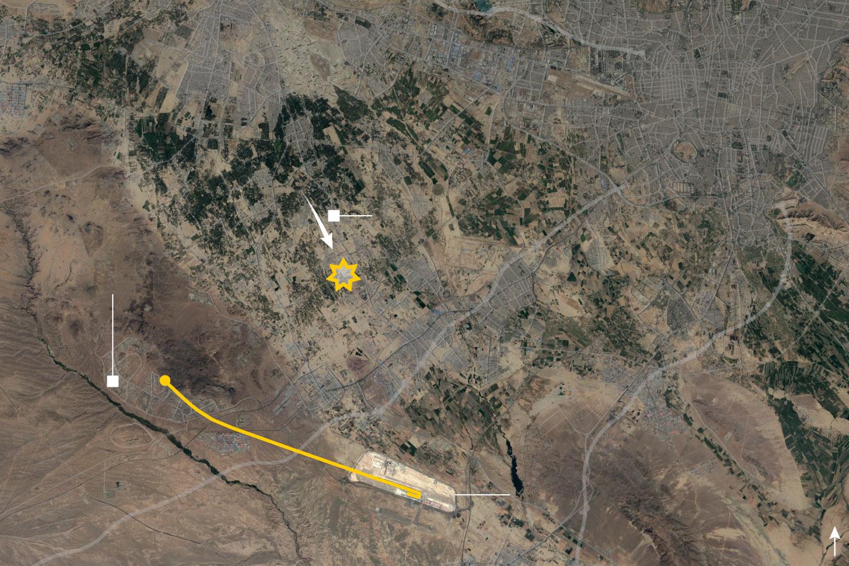 Траекторія польоту та місце катастрофи літака МАУ