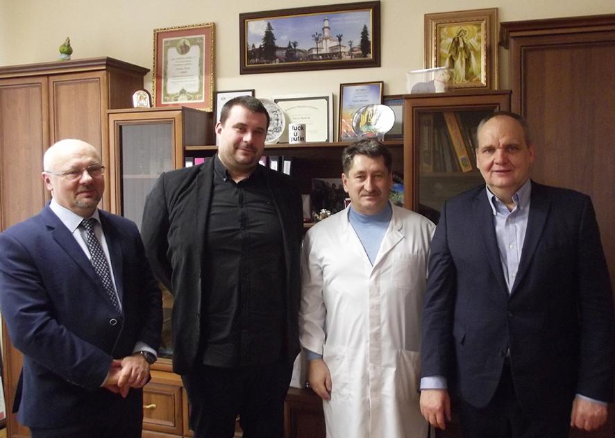 Польська делегація під час відвідин Івано-Франківської центральної міської клінічної лікарні.