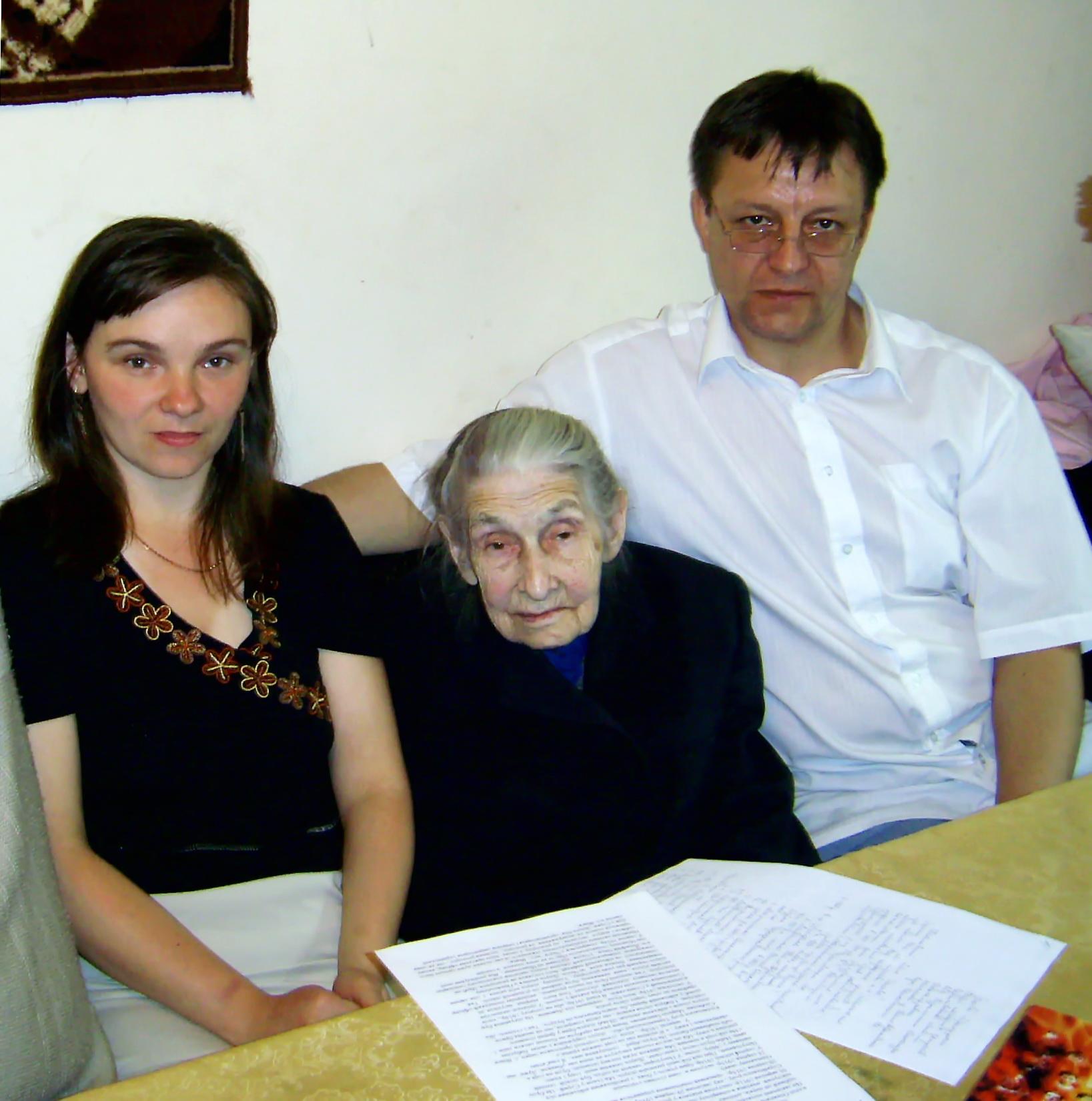 З Oксаною Бандерою в помешканні племінниці Оксани Піжик у Стрию (2011 р.)