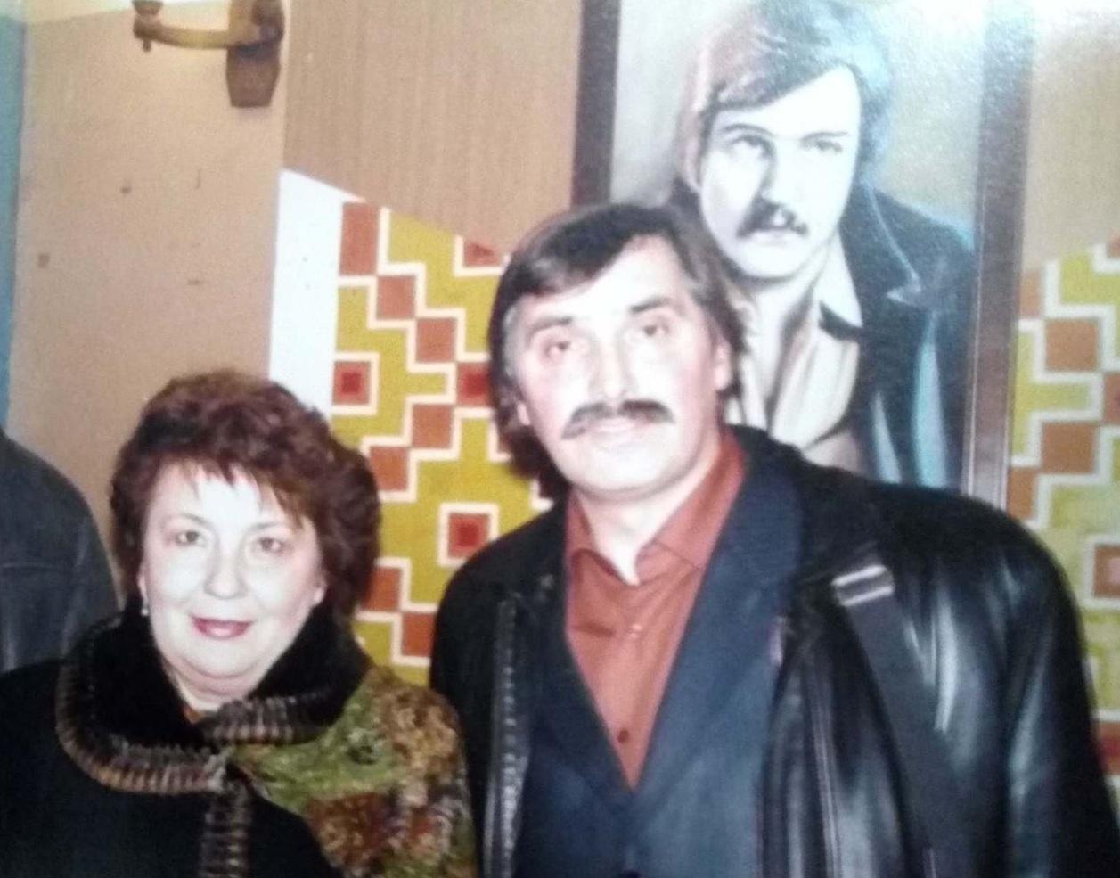 Михайло Кривень з сестрою Володимира Івасюка Галиною