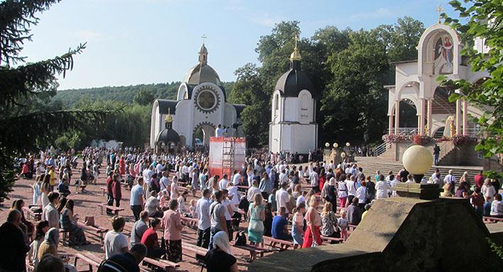 Під час завершення прощі «Самбір–Зарваниця» 2020 року в Духовному марійському центрі «Зарваниця»