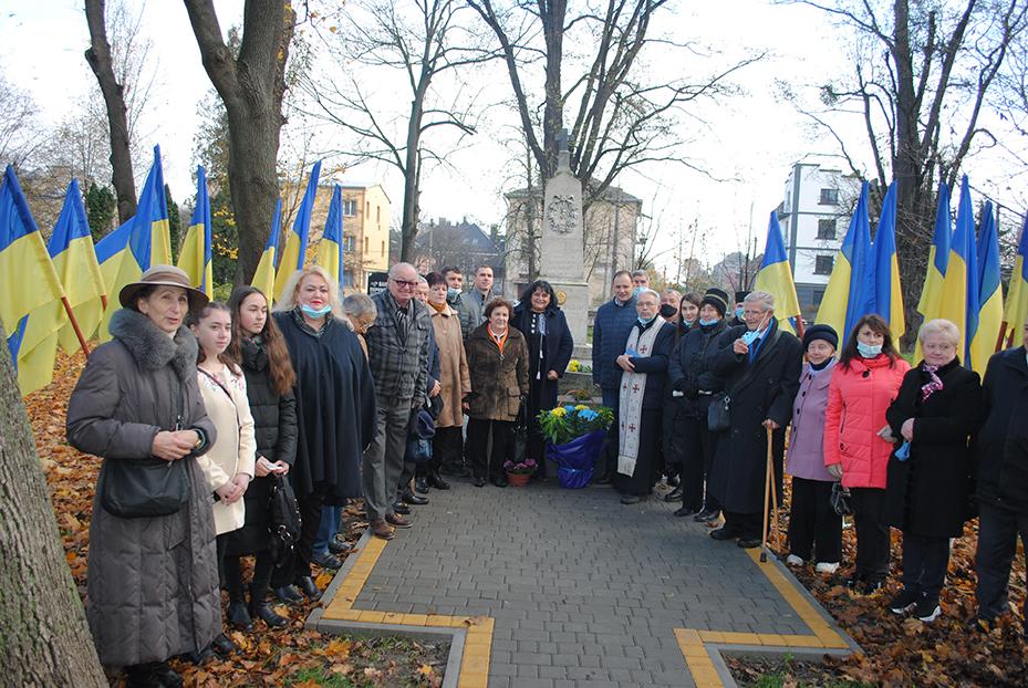 Вшанування пам'яті Євгена Желехівського в Меморіальному сквері Івано-Франківська.