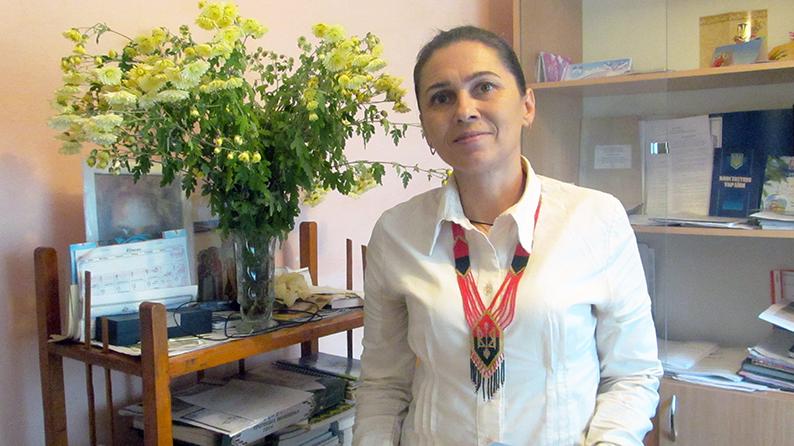 Марія Перегінець – ініціаторка і секретарка літоб'єднання «Натхнення» у с. Порогах.