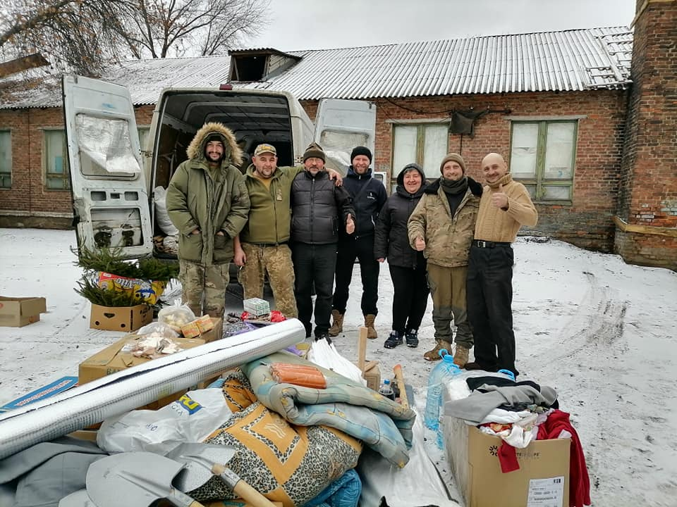 """Надія Дашко та Михайло Михайлюк у бригаді """"Чорних запорожців""""."""