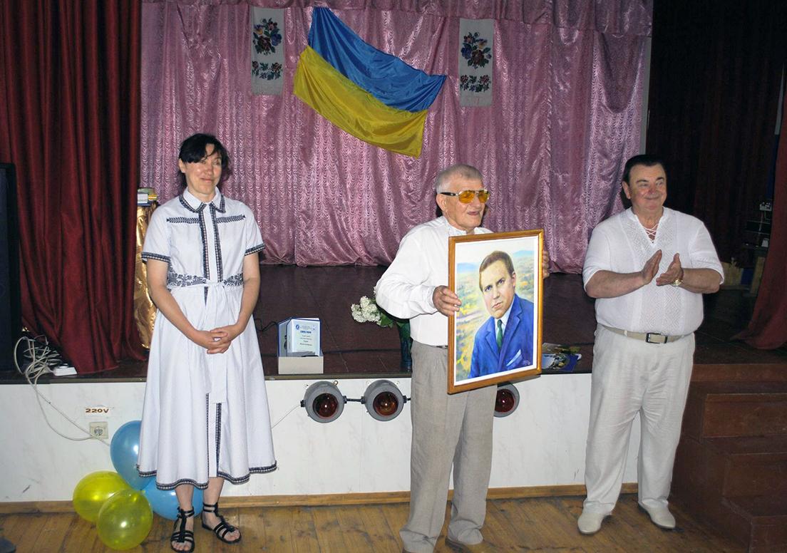 Краєзнавець і художник Іван Гаврилів подарував портрет Євгена Паранюка його сестрі Поліні.