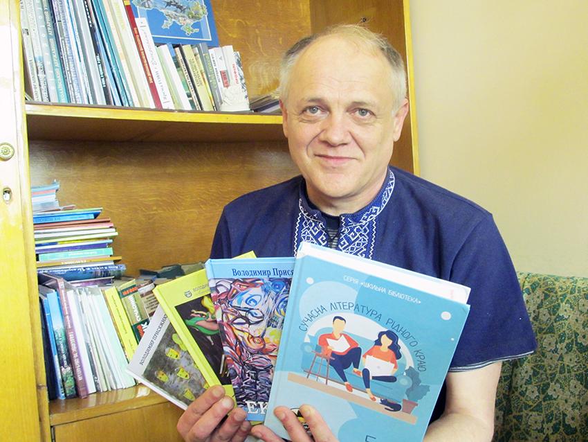 Поет Володимир Присяжнюк у літературній світлиці «Галичини».
