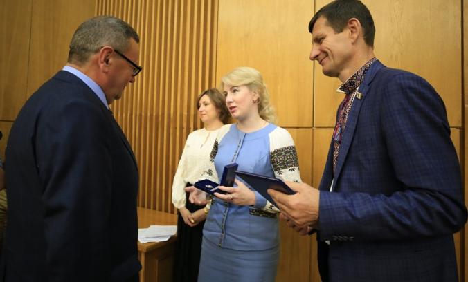 Під час вручення нагород краянам з нагоди 30-річчя Незалежності України