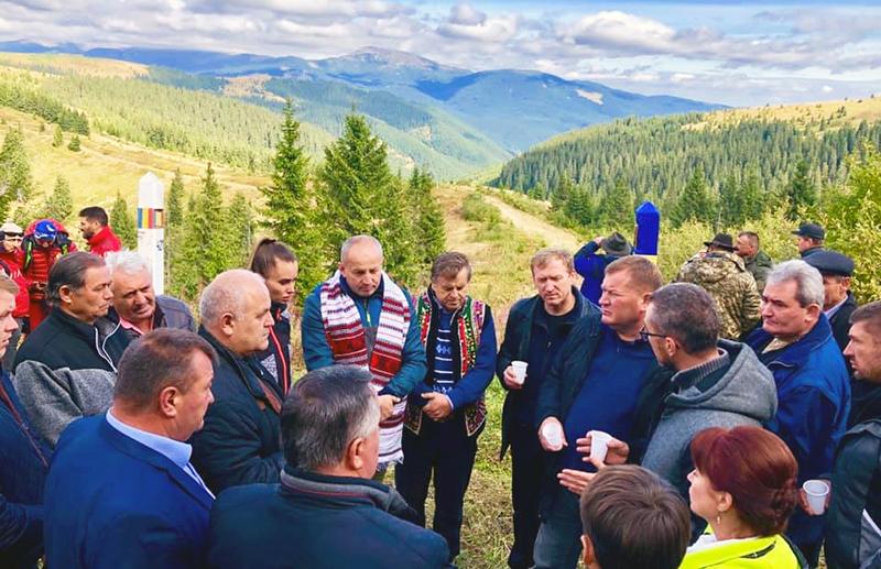 Під час підписання на румуно-українському кордоні 21 вересня 2019 року резолюції про потребу відкриття пункту пропуску між обома країнами.